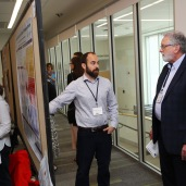 Dr. Mathew Grandy presents his research to Dr. David Gass, Head, Dept. of Family Medicine, Dalhousie University